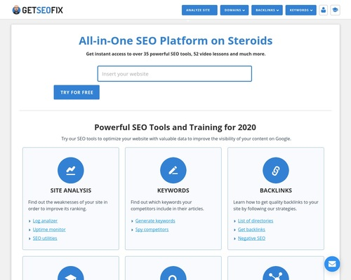 GetSEOfix – Best SEO Tools for Your Site and SEO Training