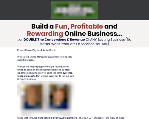 Online Marketing Classroom – Up To $748/sale!