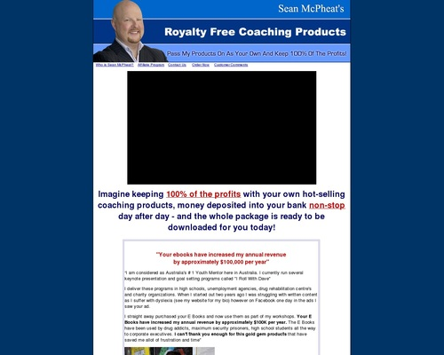 Royalty Free Coaching Products – You Keep 100% Of The Profits!