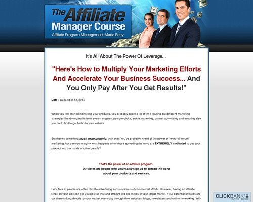 The Affiliate Manager Course | Affiliate Program Management Made Easy