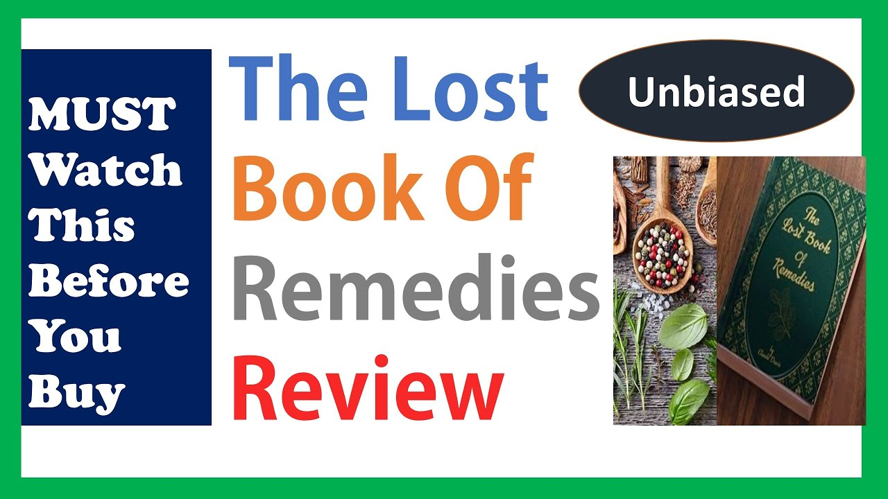 The Lost Book Of Remedies Review 🌱- Scam or Legit? Video Review