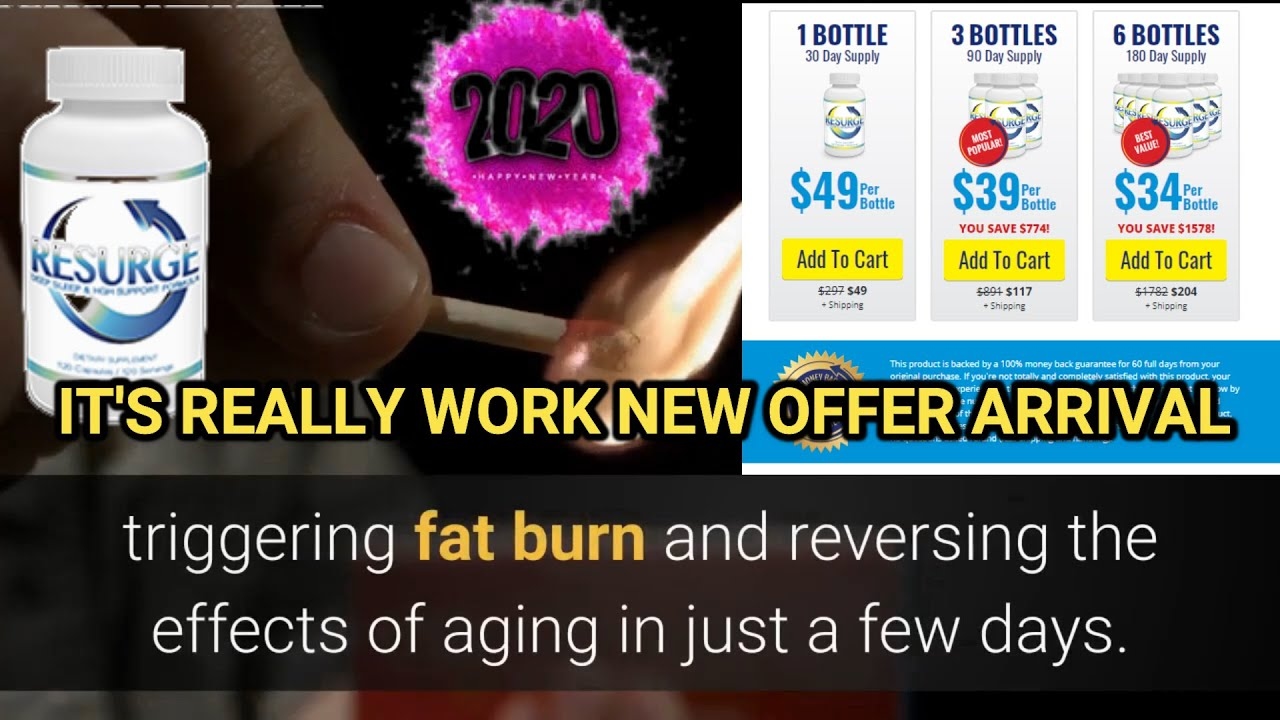Resurge | Diet Supplement Review | Does Resurge Supplement Really Work? | BEST OFFER ON 2020   APRIL : Vedio